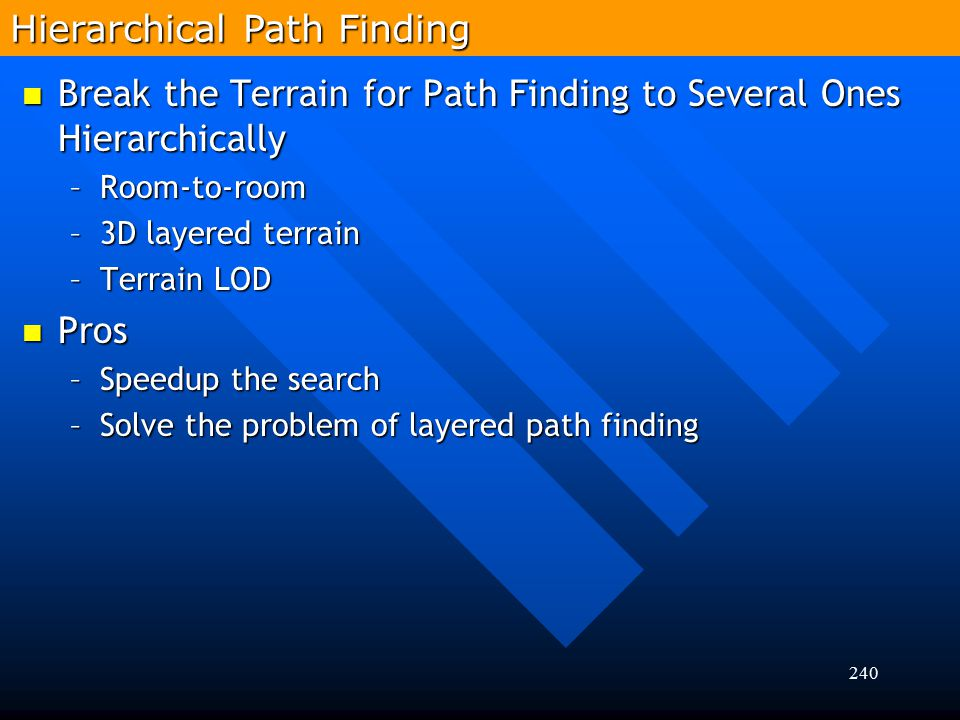 Hierarchical Path Finding