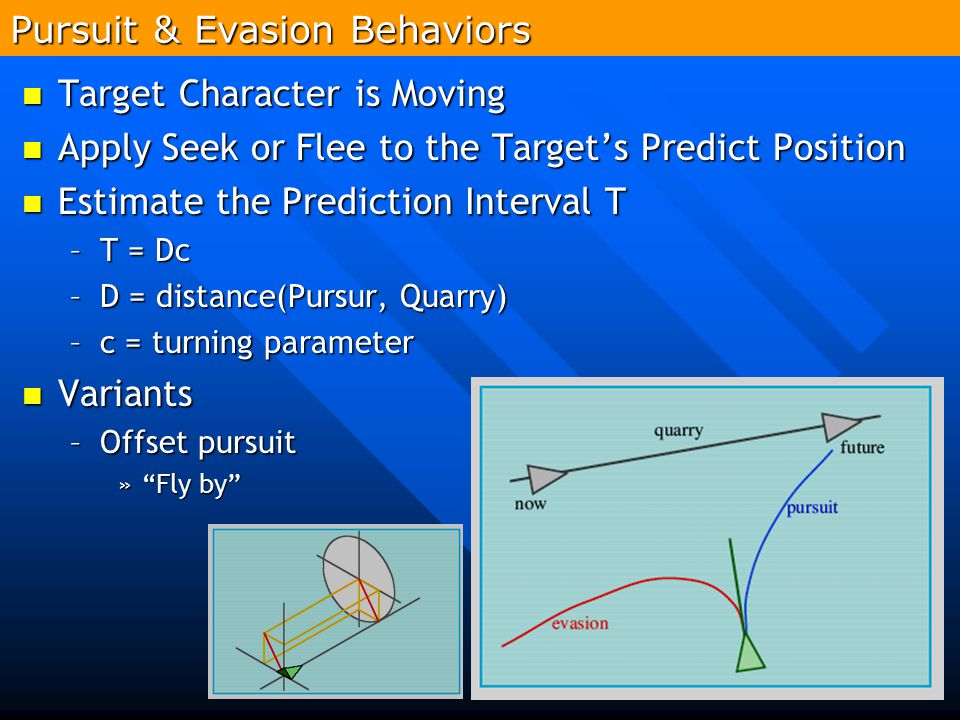 Pursuit & Evasion Behaviors