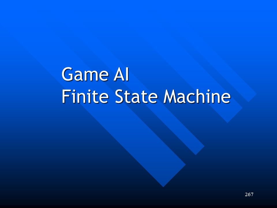 Game AI Finite State Machine