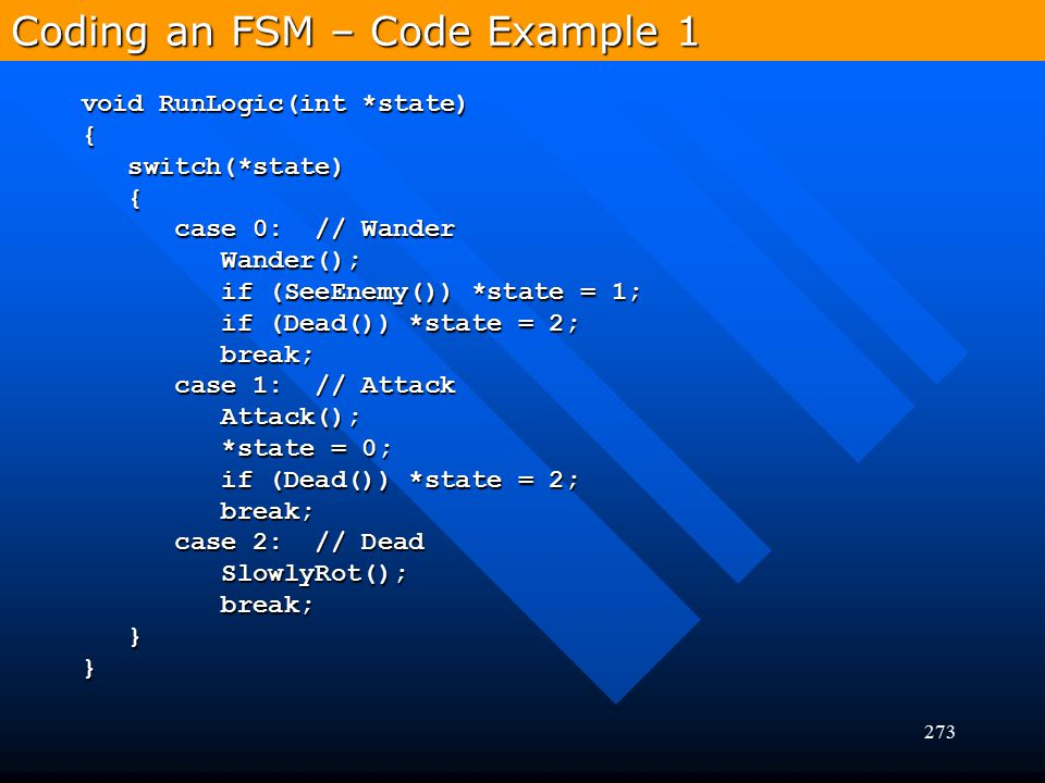 Coding an FSM – Code Example 1