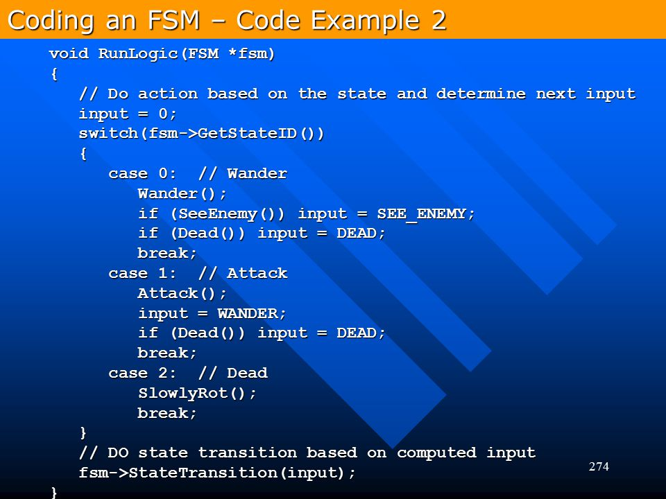 Coding an FSM – Code Example 2