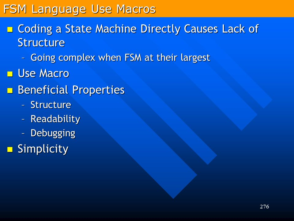 FSM Language Use Macros