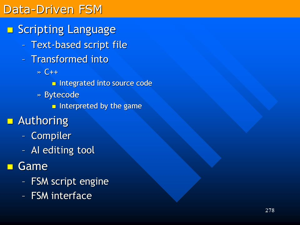 Data-Driven FSM Scripting Language Authoring Game