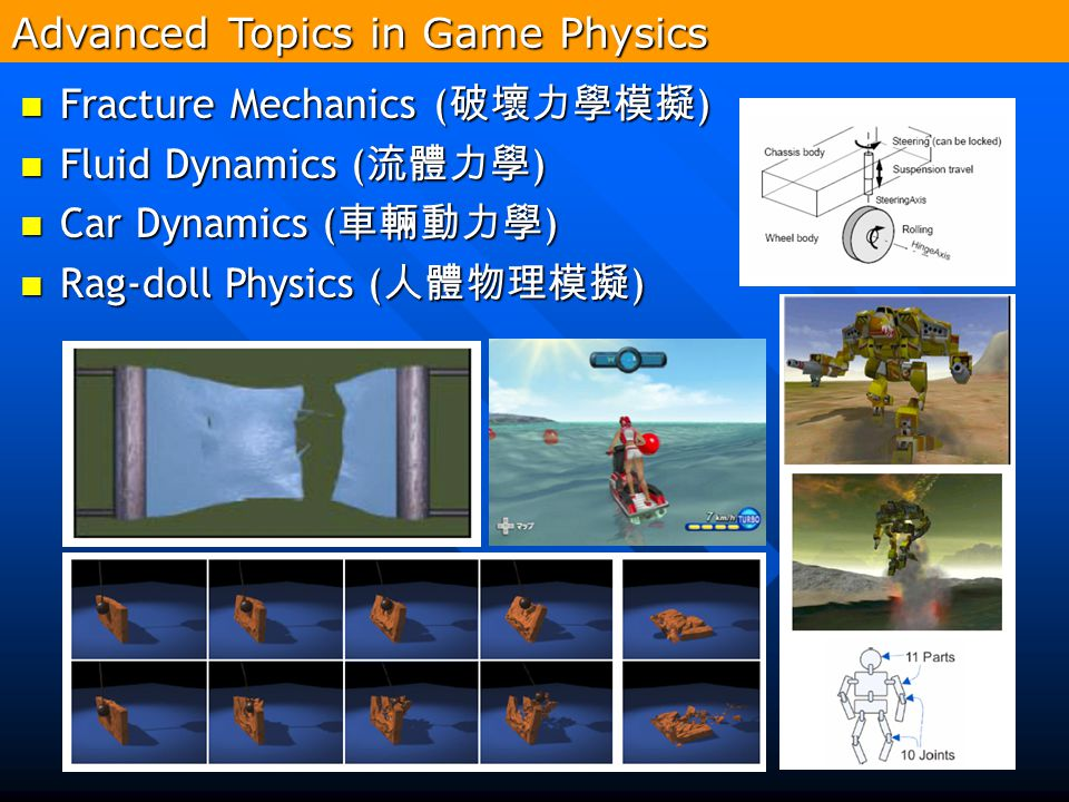 Advanced Topics in Game Physics