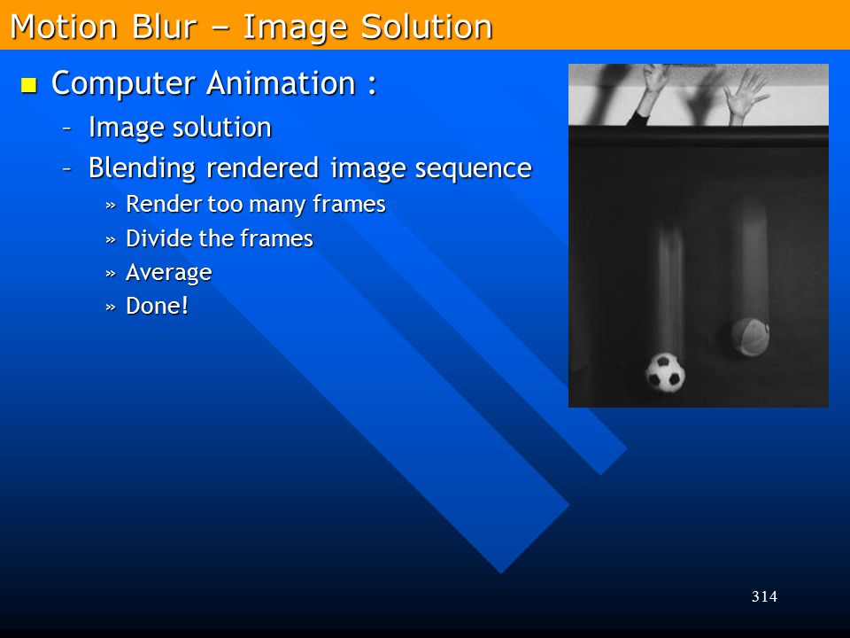 Motion Blur – Image Solution