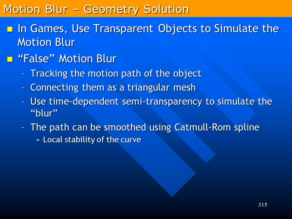 Motion Blur – Geometry Solution