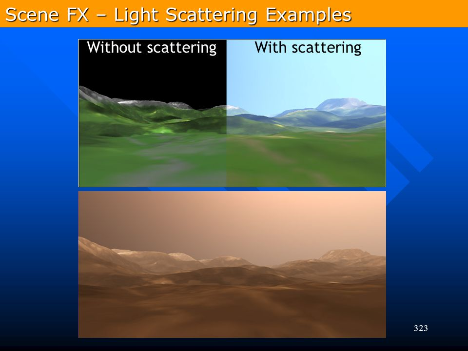 Scene FX – Light Scattering Examples
