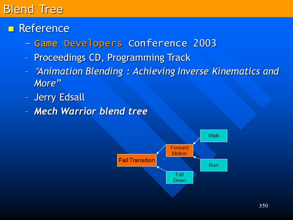 Blend Tree Reference Game Developers Conference 2003