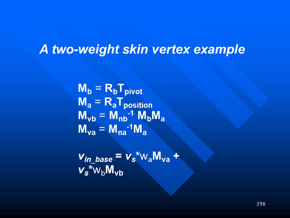 A two-weight skin vertex example