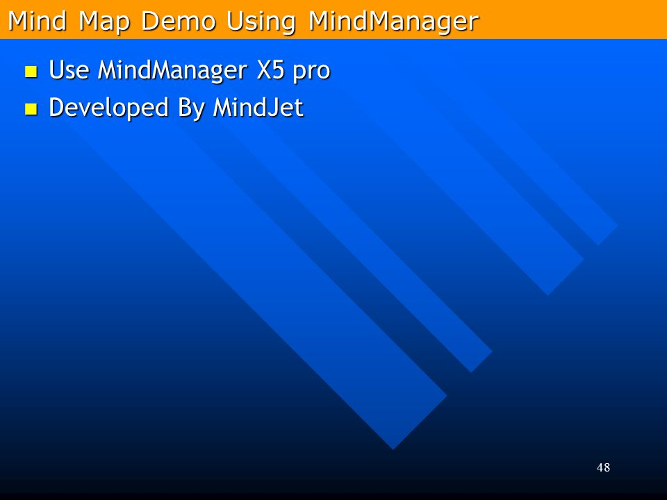 Mind Map Demo Using MindManager