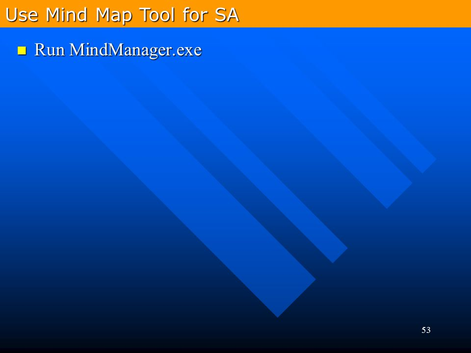 Use Mind Map Tool for SA Run MindManager.exe