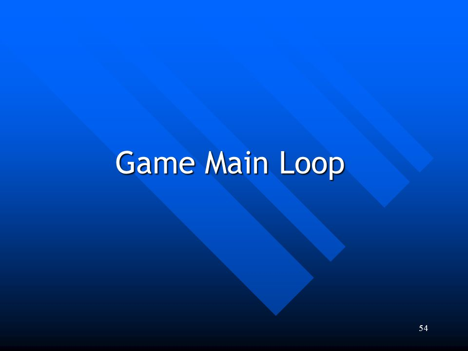 Game Main Loop