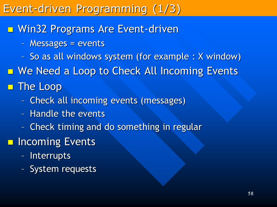 Event-driven Programming (1/3)