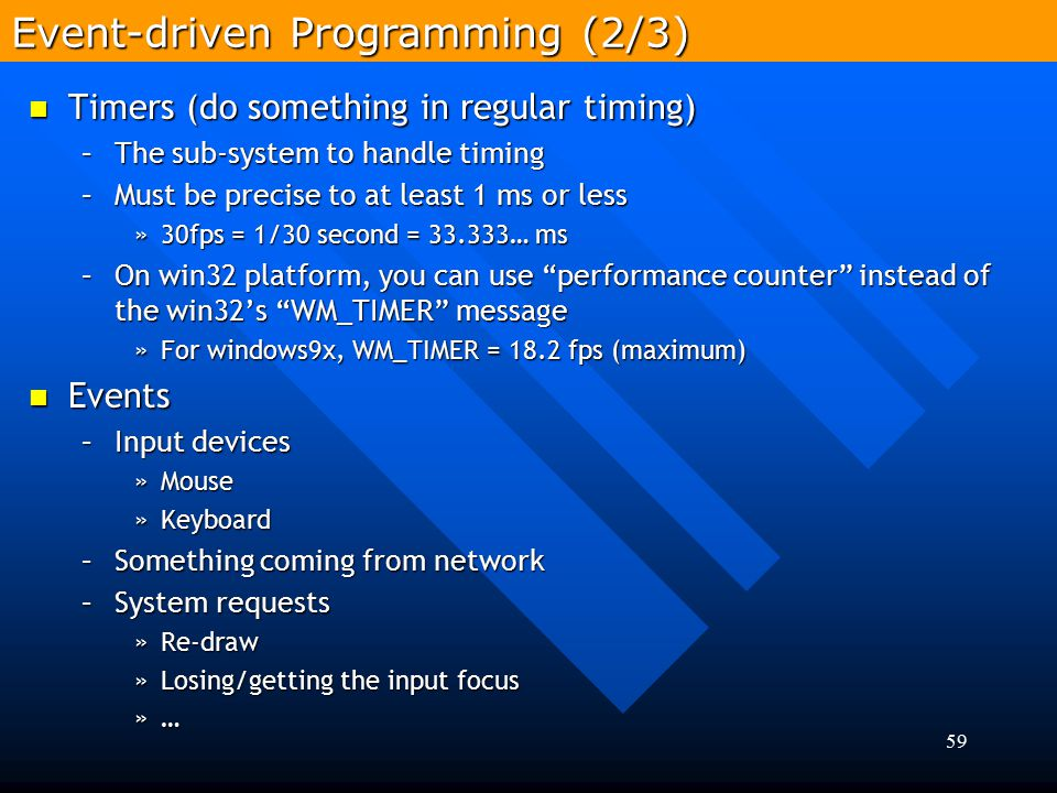 Event-driven Programming (2/3)