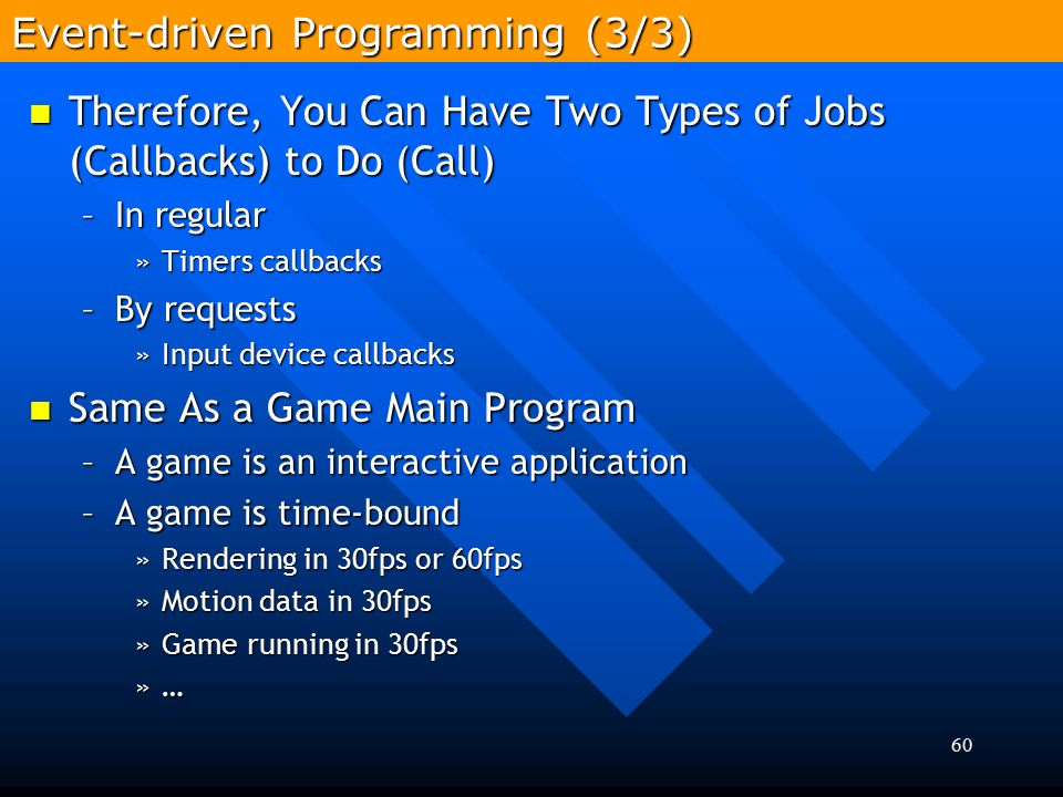 Event-driven Programming (3/3)