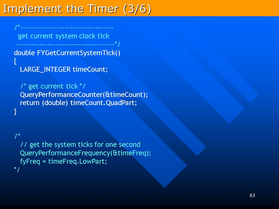 Implement the Timer (3/6)