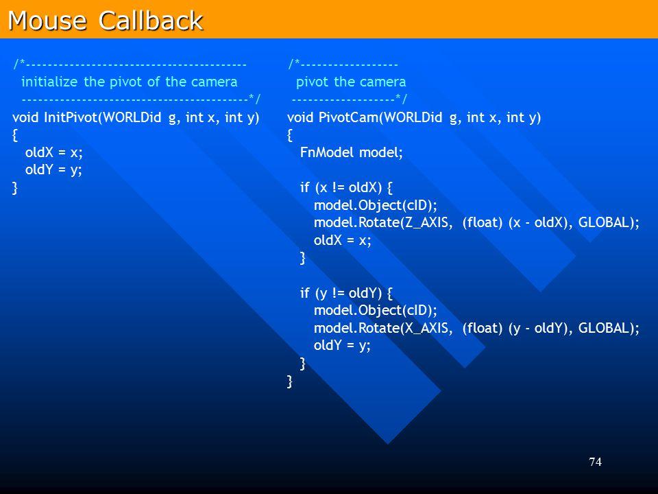Mouse Callback /*-----------------------------------------