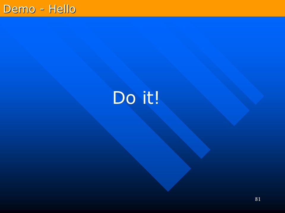 Demo - Hello Do it!