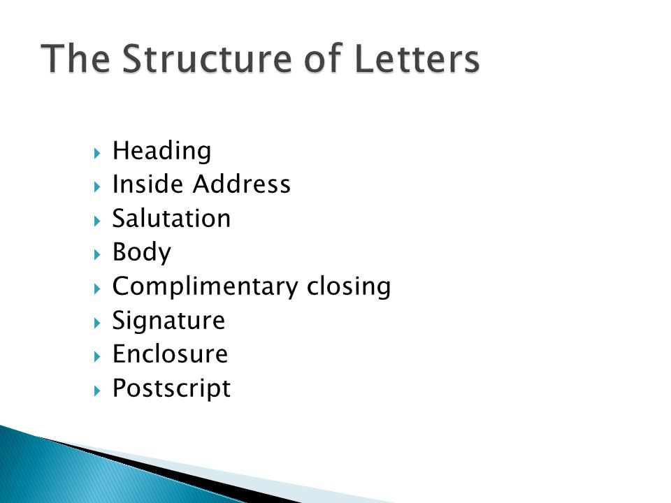 The Structure of Letters
