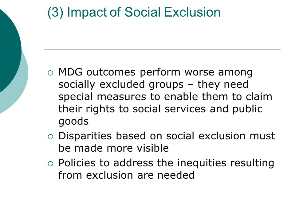 (3) Impact of Social Exclusion