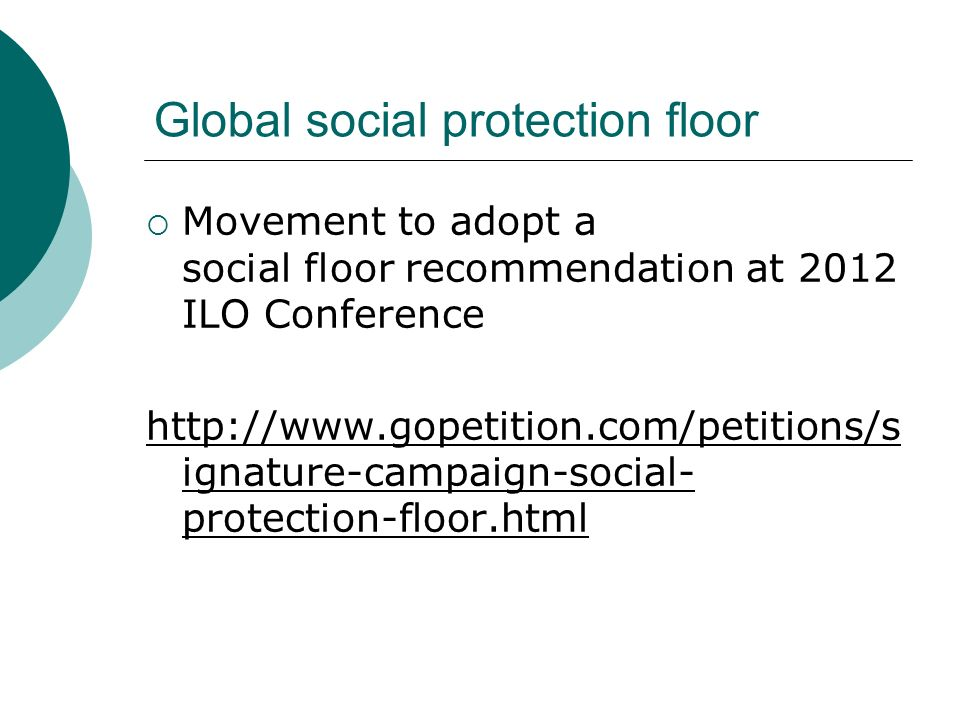 Global social protection floor