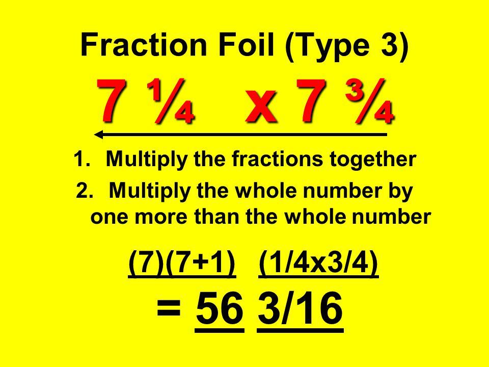 Fraction Foil (Type 3) 7 ¼ x 7 ¾