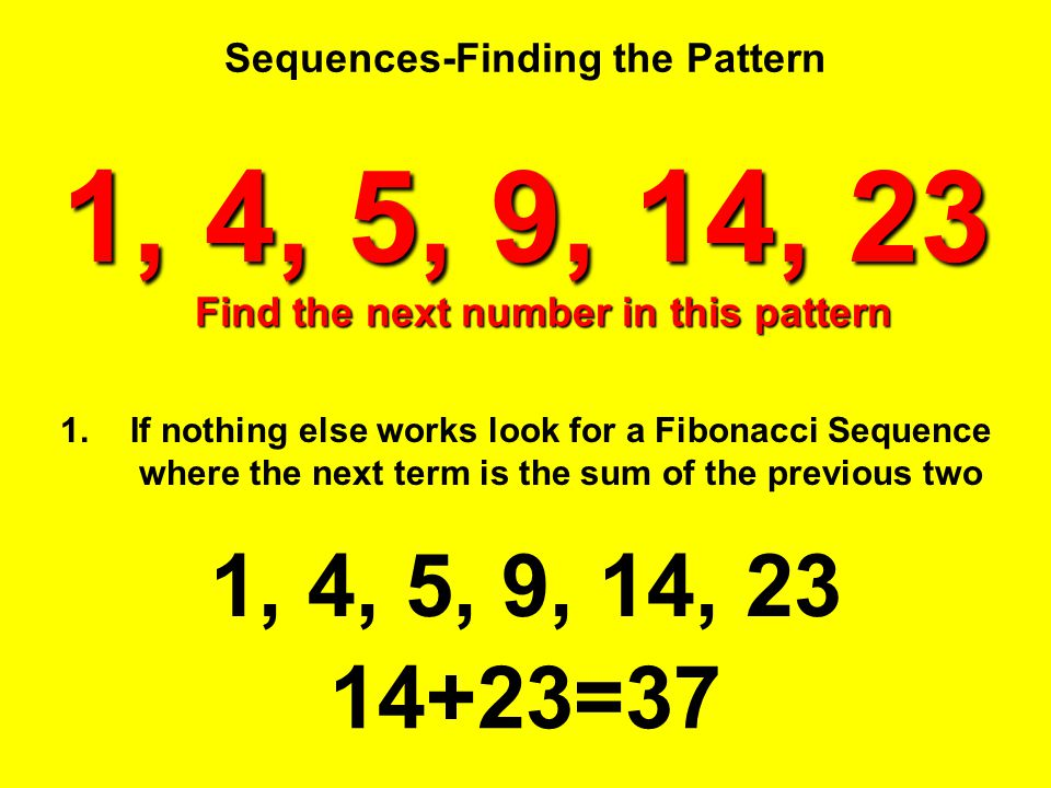 Sequences-Finding the Pattern