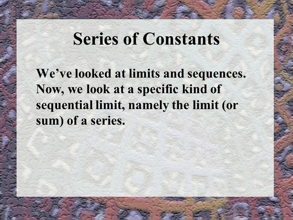 Series of Constants