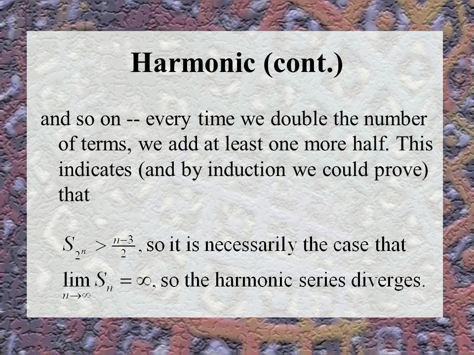 Harmonic (cont.)