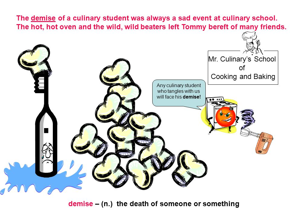 Any culinary student who tangles with us will face his demise!