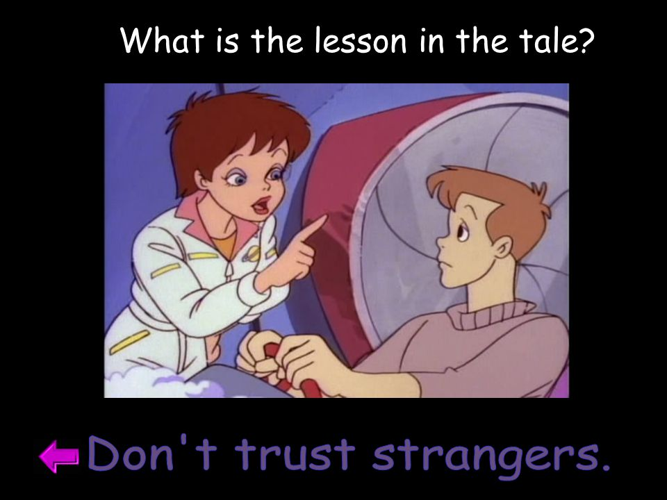 What is the lesson in the tale