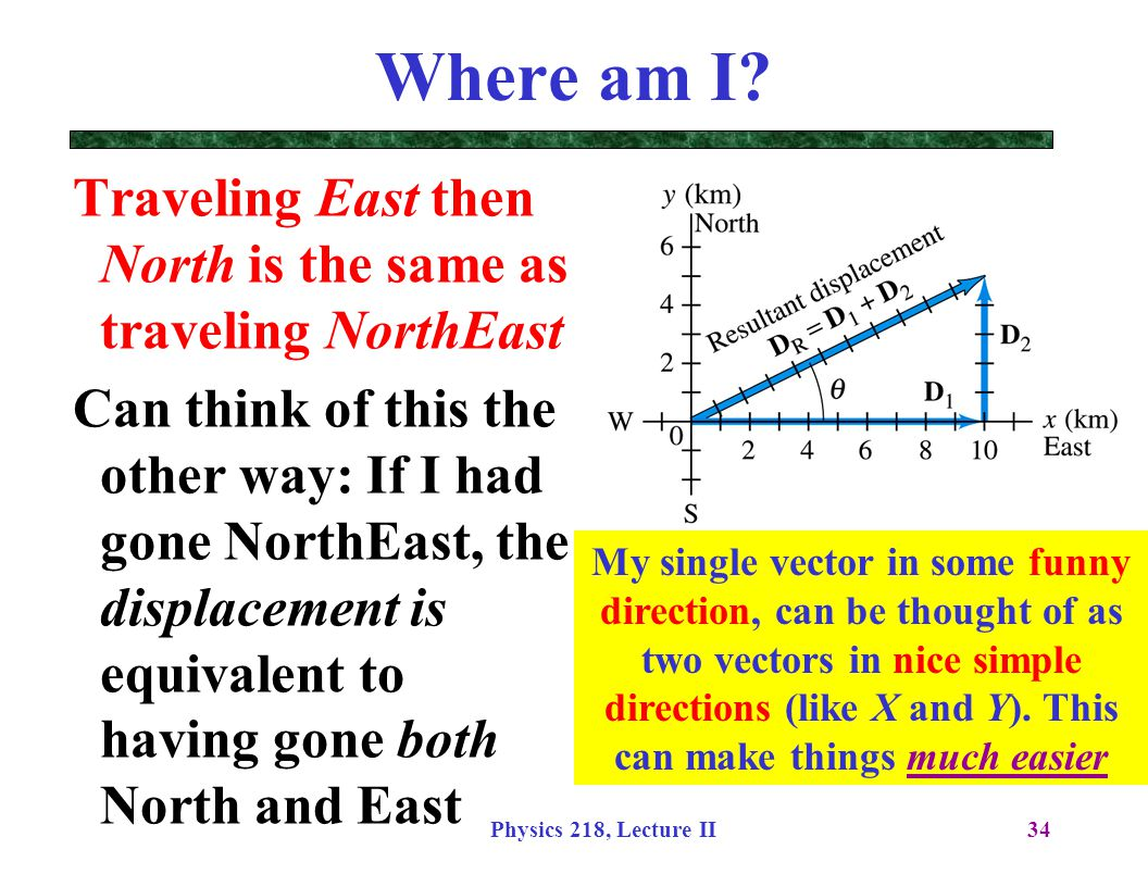 Where am I Traveling East then North is the same as traveling NorthEast.