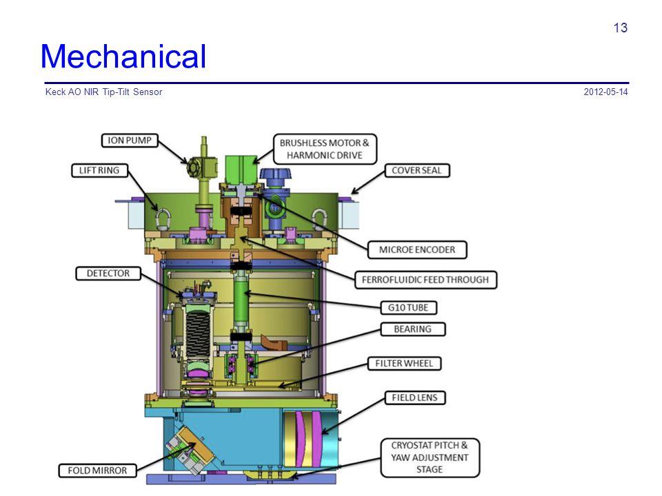 Mechanical Keck AO NIR Tip-Tilt Sensor 2012-05-14
