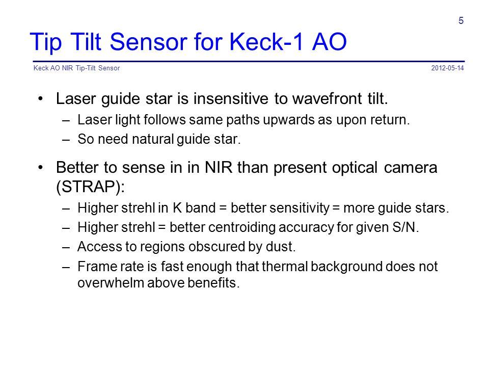 Tip Tilt Sensor for Keck-1 AO