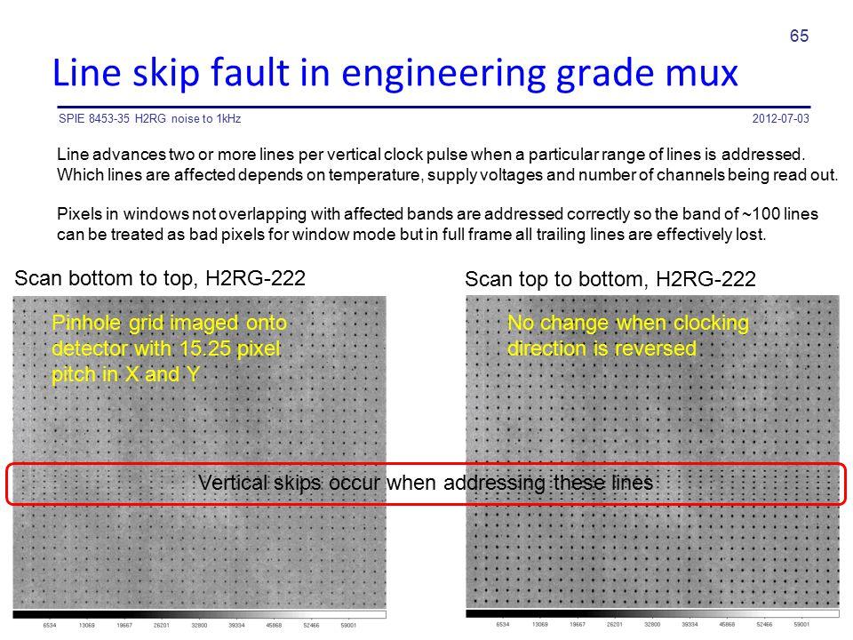 Line skip fault in engineering grade mux
