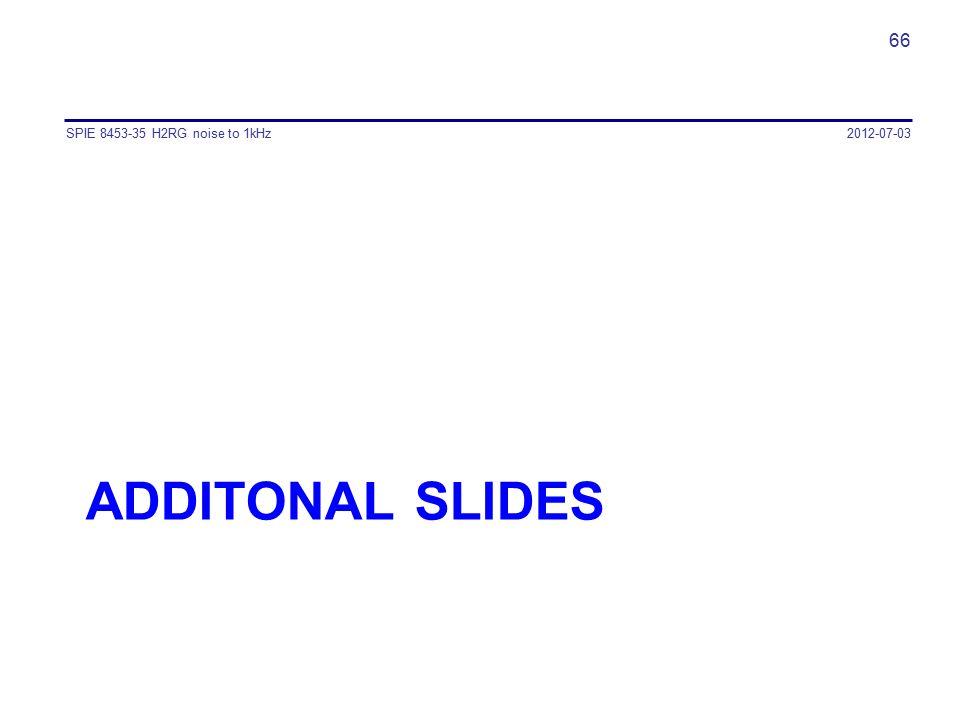 SPIE 8453-35 H2RG noise to 1kHz 2012-07-03 Additonal SLIDES