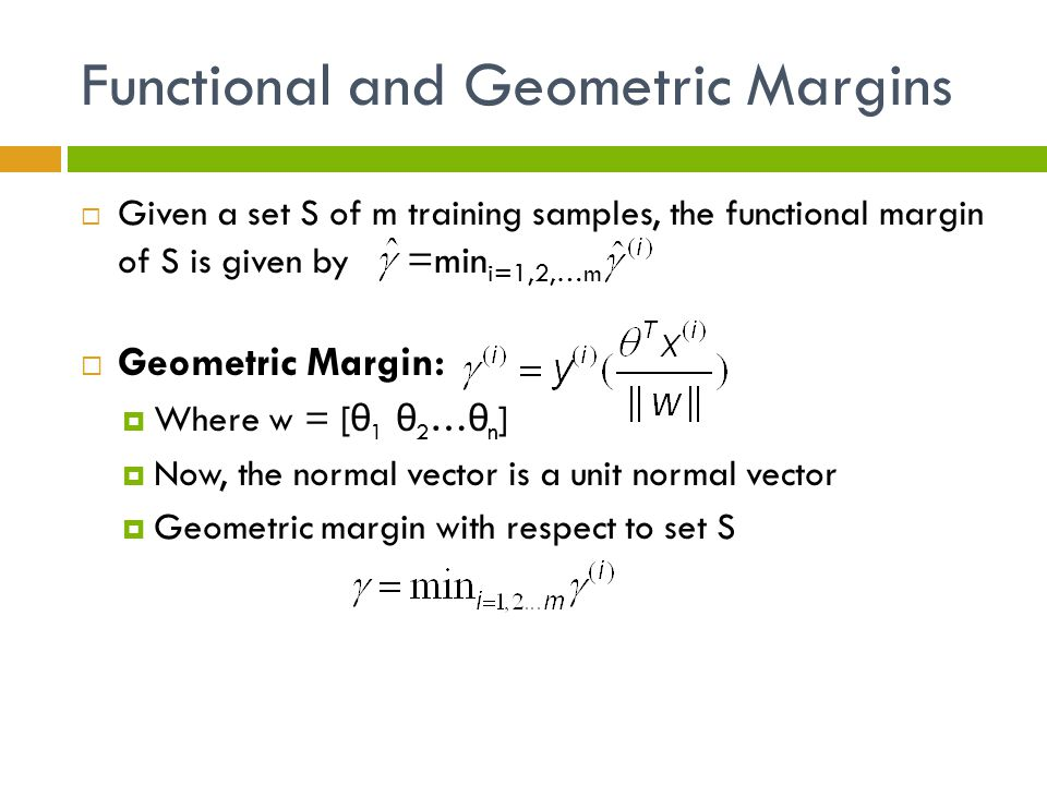 Functional and Geometric Margins