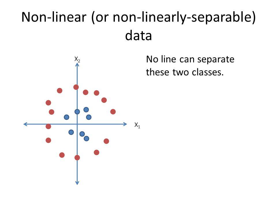 Non-linear (or non-linearly-separable) data