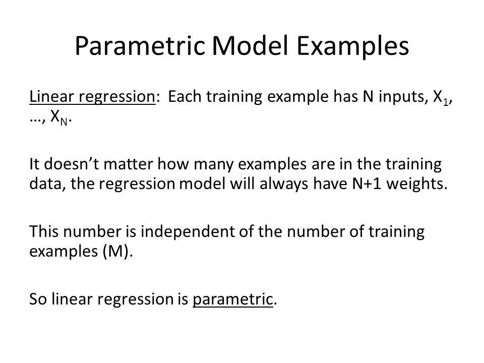 Parametric Model Examples
