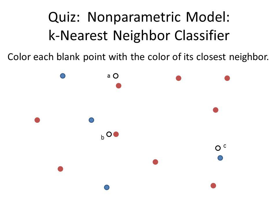 Quiz: Nonparametric Model: k-Nearest Neighbor Classifier