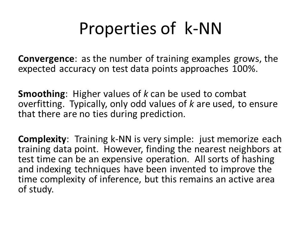 Properties of k-NN