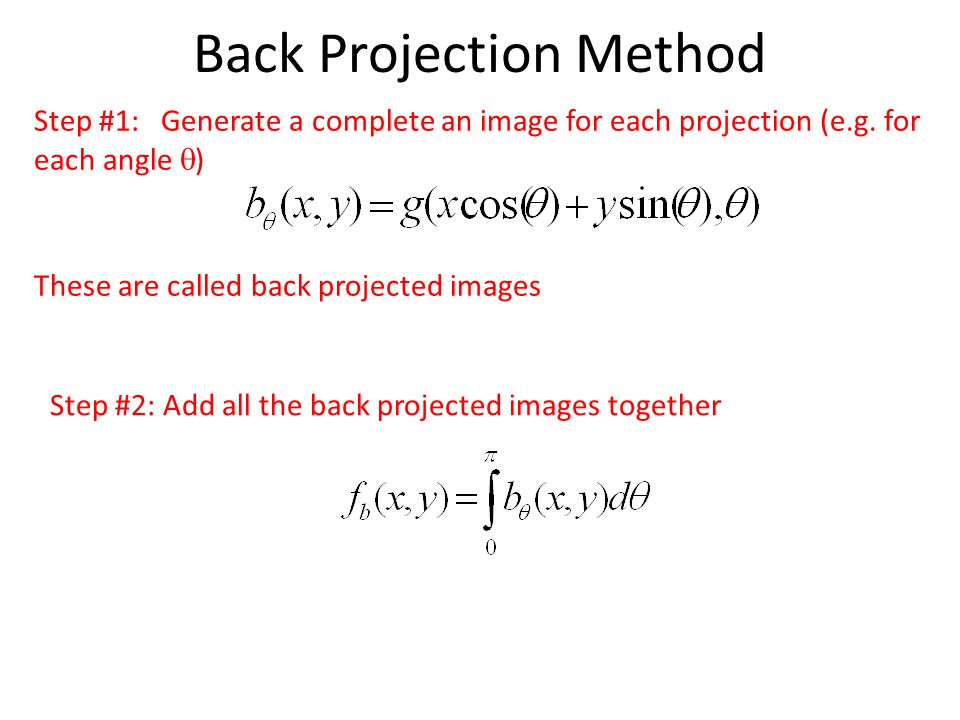 Back Projection Method
