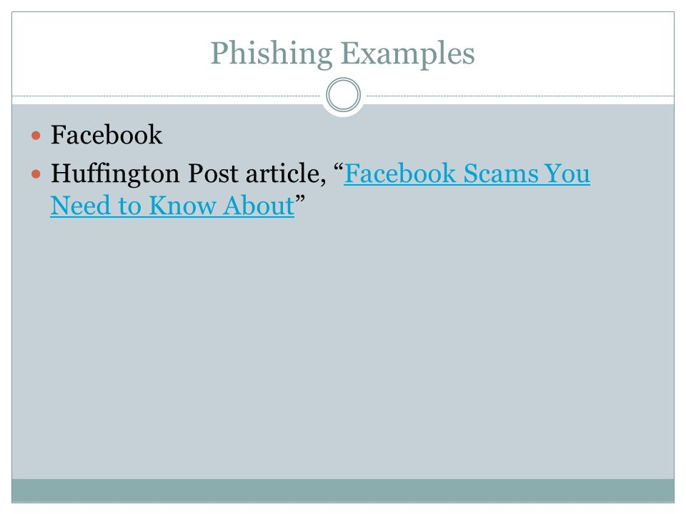 Phishing Examples Facebook
