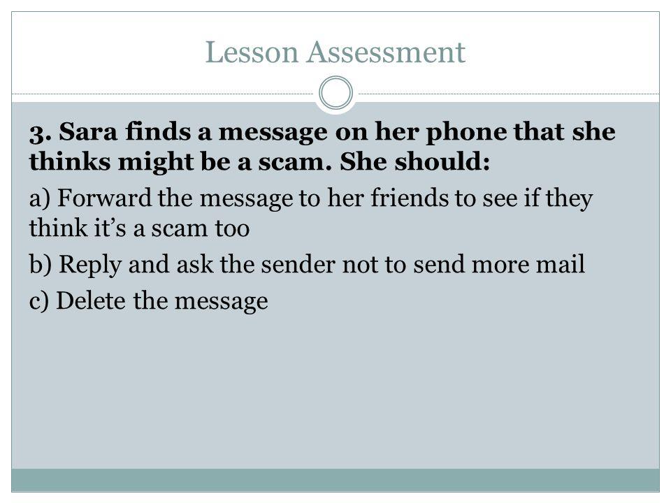 Lesson Assessment