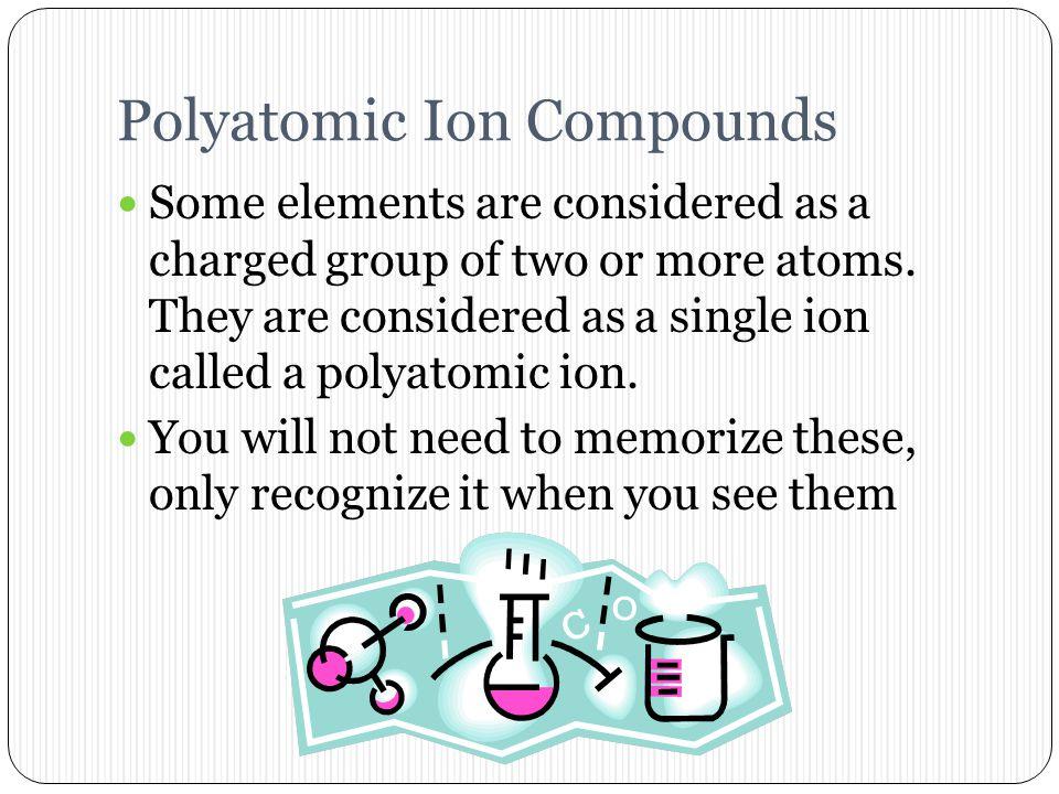 Polyatomic Ion Compounds