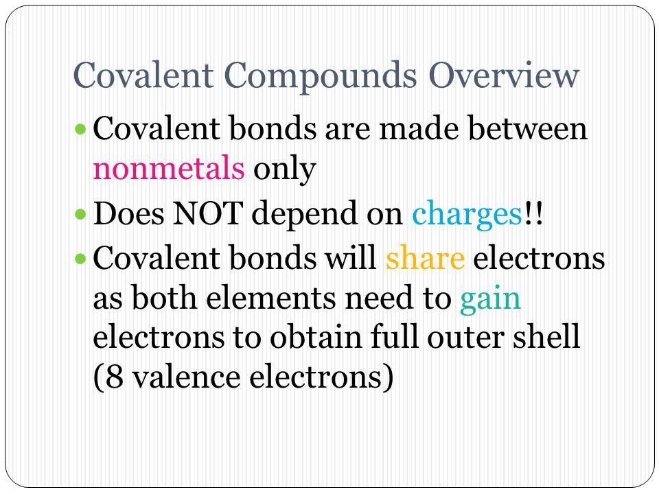 Covalent Compounds Overview