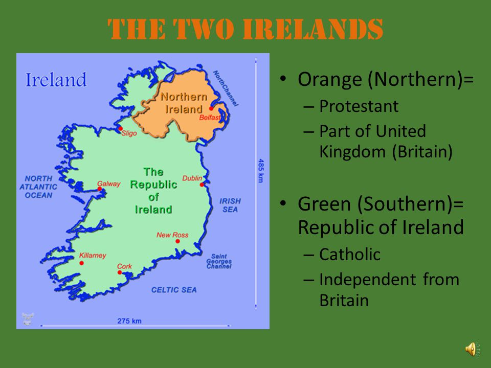 The Two Irelands Orange (Northern)=