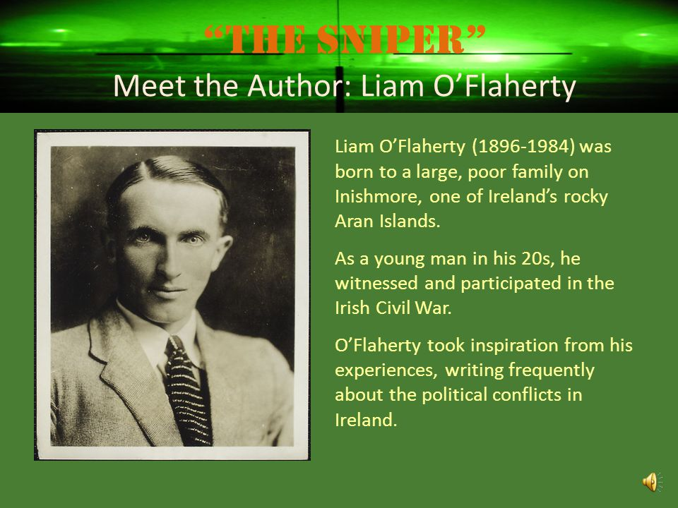 The Sniper Meet the Author: Liam O'Flaherty