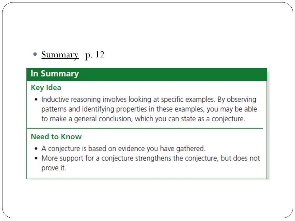 Summary p. 12
