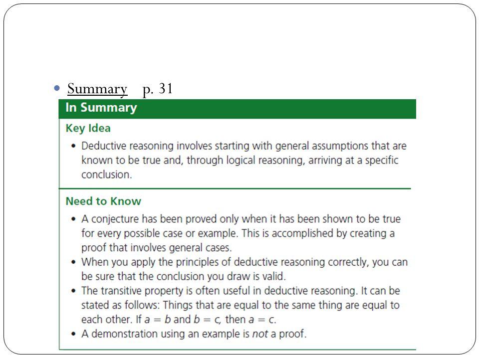 Summary p. 31